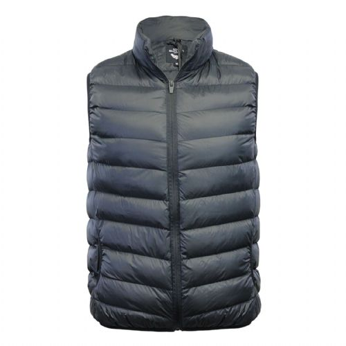 Fargo Men's Black Gillet Soft Padded Body Warmer Buttoned Zip Sleeveless Coat Jacket